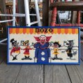 70s Vintage BOZO the Clown Needlepoint Art Wall Hanging (T881)