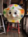 画像1: 70s Vintage CIRCUS Polka Dot Elephant Blow Mold Toy Chest Box (T923) (1)