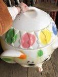 画像11: 70s Vintage CIRCUS Polka Dot Elephant Blow Mold Toy Chest Box (T923)