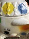 画像15: 70s Vintage CIRCUS Polka Dot Elephant Blow Mold Toy Chest Box (T923)