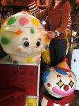 画像17: 70s Vintage CIRCUS Polka Dot Elephant Blow Mold Toy Chest Box (T923)