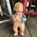 60s Vintage Rubber Doll Reliable Baby w/teddy bear (T926)