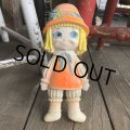70s Vintage Rubber Doll Cute Girl (T924)