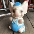 70s Vintage Rubber Doll Baby Elephant (T927)