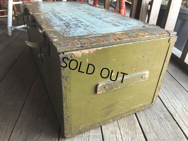 画像2: Vintage US Military Wooden Box Trunk (T946)