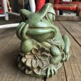 画像10: 60s Vintage Thinking Frog Plastic Bank (T983)