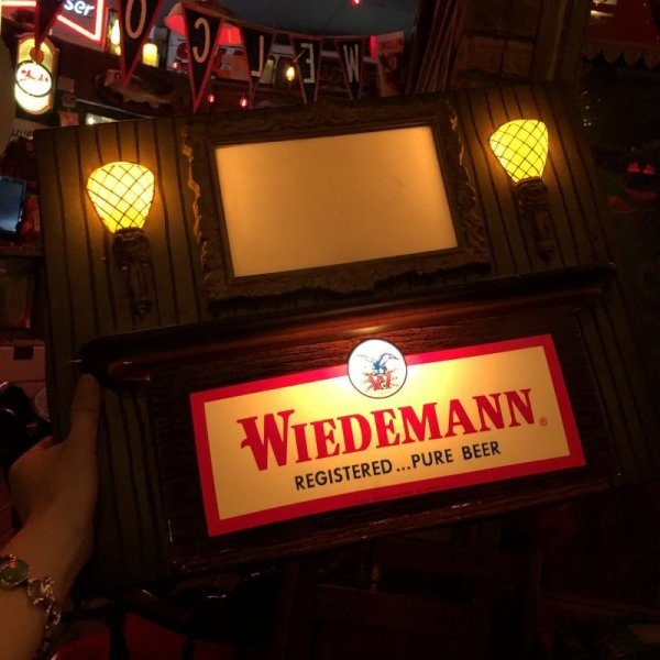 画像1: Vintage Weideman Beer & Ale Lighted BAR Sign (T984)