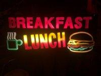 Vintage BREAKFAST & LUNCH Ligiht Sign (T986)