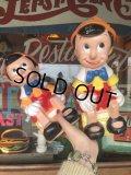 70s Vintage Disney Pinocchio Bank Doll 右 (T898)