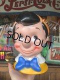 70s Vintage Disney Play Pal Head Bank Pinocchio (T902)