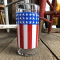 Vintage Groovy American Old Glory Stars and Stripes Glass (T917)