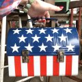 Vintage Groovy American Old Glory Stars and Stripes Lunch Box (T907)