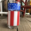 Vintage Groovy American Old Glory Stars and Stripes Glass (T916)