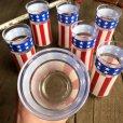 画像3: Vintage Groovy American Old Glory Stars and Stripes Glass (T915)