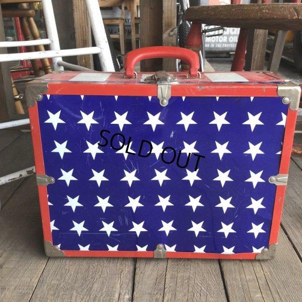画像2: Vintage Groovy American Old Glory Stars and Stripes Roller Skates Carring Case Trunk (T409)