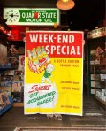 50s Vintage Squirt Soda Store Display Sign Poster BIG!! (T967)