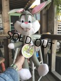 70s Vintage MIGHTY STAR Plush Doll Bugs bunny (B089)