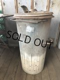 1940s Vintage Industriel Heavy Duty Iron Trash Box (B133)