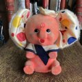 Vintage Polka dot Pink Elephant Piggy Bank (B197)