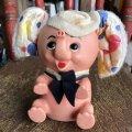 Vintage Polka dot Pink Elephant Piggy Bank (B198)