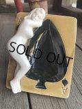 Vintage Japan Nude Naked Pin-up Girl Ceramic Ashtray (B201)