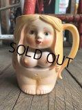 Vintage Japan Nude Naked Pin-up Girl Ceramic Mug (B200)