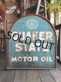 Vintage Quaker State Motor Oil Sign (B220)