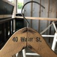 画像1: Vintage Antique Advertising Wood Hanger 40 Water ST. (B251) (1)