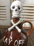 画像15: 50s Vintage JAPAN Skull Poision Bottle Decanter Shot Glass SET (B276)