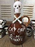 画像7: 50s Vintage JAPAN Skull Poision Bottle Decanter Shot Glass SET (B276)