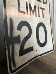 画像2: Vintage Road Sign SPEED LIMIT 20 (B288)  (2)