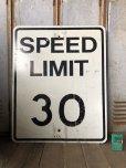 画像1: Vintage Road Sign SPEED LIMIT 30 (B315)  (1)
