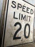 画像2: Vintage Road Sign SPEED LIMIT 20 (B298)  (2)