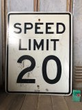 Vintage Road Sign SPEED LIMIT 20 (B295)