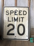 Vintage Road Sign SPEED LIMIT 20 (B294)