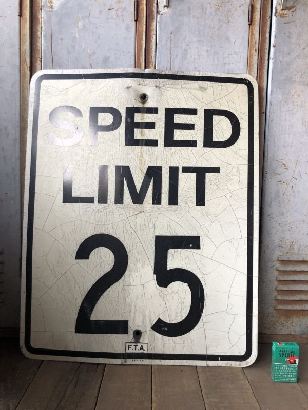 画像1: Vintage Road Sign SPEED LIMIT 25 (B310)