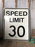 Vintage Road Sign SPEED LIMIT 30 (B314)