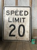 Vintage Road Sign SPEED LIMIT 20 (B298)