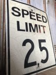 画像4: Vintage Road Sign SPEED LIMIT 25 (B310)
