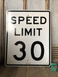 Vintage Road Sign SPEED LIMIT 30 (B317)