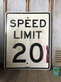 Vintage Road Sign SPEED LIMIT 20 (B299)