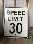 画像1: Vintage Road Sign SPEED LIMIT 30 (B320)  (1)
