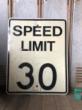 Vintage Road Sign SPEED LIMIT 30 (B316)