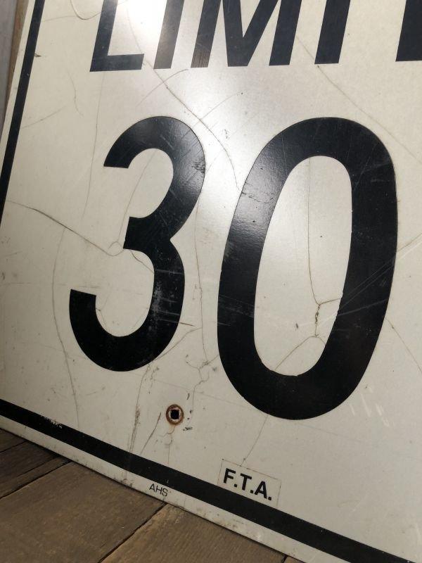画像3: Vintage Road Sign SPEED LIMIT 30 (B320)