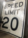 画像3: Vintage Road Sign SPEED LIMIT 20 (B288)  (3)