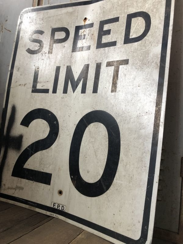 画像3: Vintage Road Sign SPEED LIMIT 20 (B288)