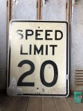 Vintage Road Sign SPEED LIMIT 20 (B296)