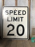 Vintage Road Sign SPEED LIMIT 20 (B289)