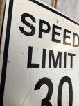 画像2: Vintage Road Sign SPEED LIMIT 30 (B320)  (2)