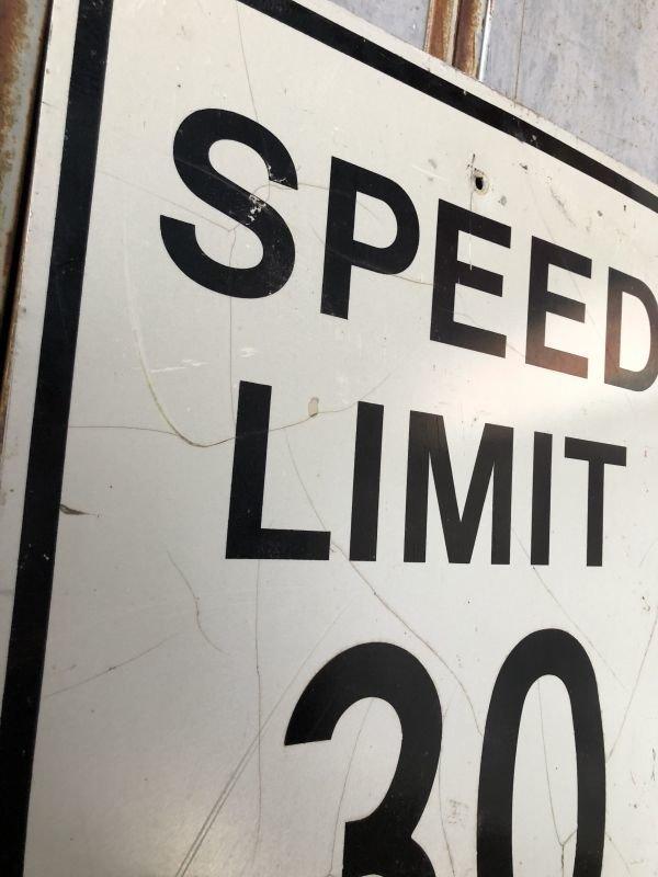 画像2: Vintage Road Sign SPEED LIMIT 30 (B320)